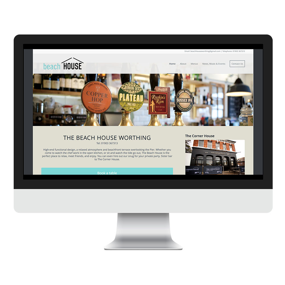 Wordpress Website Design Beach House Sussex