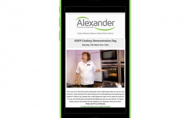 Email Newsletter design for Alexander Worthing