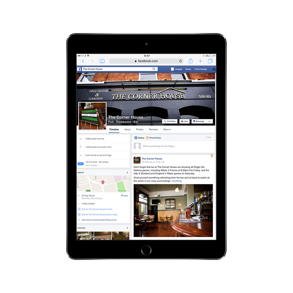 Worthing Facebook Account Management